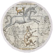 Monoceros Round Beach Towel by A Jamieson