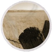 Montana Vista Round Beach Towel