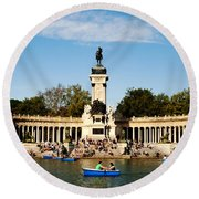 Monument To Alfonso Xii Round Beach Towel