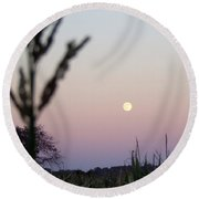 Round Beach Towel featuring the photograph Moon by Andrea Anderegg