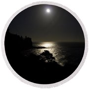 Moon Over Dor Round Beach Towel by Brent L Ander
