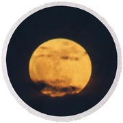 Round Beach Towel featuring the photograph Moon by William Norton