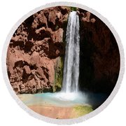 Mooney Falls Round Beach Towel