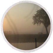 Round Beach Towel featuring the photograph Morning Calm by Linsey Williams