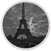 Round Beach Towel featuring the photograph Morning Light  by Eric Tressler