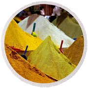 Moroccan Spices Round Beach Towel