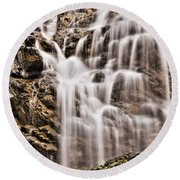 Round Beach Towel featuring the photograph Morrell Falls 1 by Janie Johnson