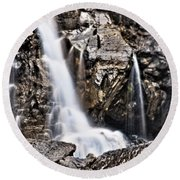 Round Beach Towel featuring the photograph Morrell Falls 2 by Janie Johnson