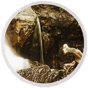 Round Beach Towel featuring the photograph Morrell Falls 3 by Janie Johnson