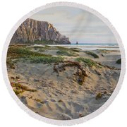 Morro Rock Round Beach Towel
