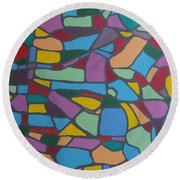 Mosaic Journey Round Beach Towel