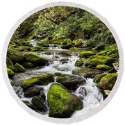 Mossy Creek Round Beach Towel