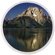 Round Beach Towel featuring the photograph Moujnt Moran 5 by Marty Koch
