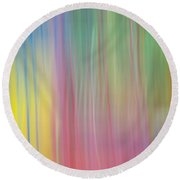 Moving Colors Round Beach Towel by Susan Stone