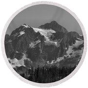 Mt. Shuksan Round Beach Towel