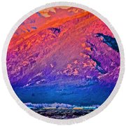 Mt Wheeler At Sunset Round Beach Towel