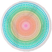 Multicolor Circle Round Beach Towel