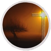 Round Beach Towel featuring the photograph My Life In God's Hands 3 To 4 Ration by Clayton Bruster