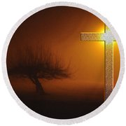 Round Beach Towel featuring the photograph My Life In God's Hands by Clayton Bruster