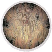 Round Beach Towel featuring the photograph Mystery Garden 13 by Andrew Drozdowicz