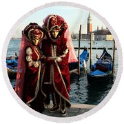 Nadine And Daniel Across San Giorgio Round Beach Towel