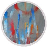 Native American Abstract Round Beach Towel