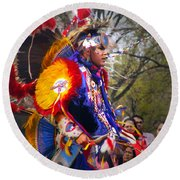 Native American Dancer One Round Beach Towel