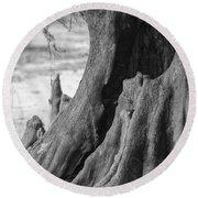 Natural Cypress Round Beach Towel