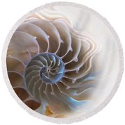 Natural Spiral Round Beach Towel