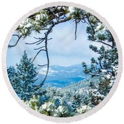 Round Beach Towel featuring the photograph Natural Wreath by Shannon Harrington