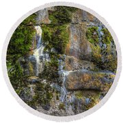 Nature's Abstract Round Beach Towel