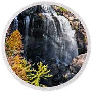 Nc Waterfalls Round Beach Towel