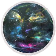 Nebula's Face Round Beach Towel