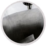 Round Beach Towel featuring the photograph Needle In The Whale by Lorraine Devon Wilke