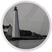 New London Light Round Beach Towel