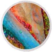 Round Beach Towel featuring the digital art New Way by Richard Laeton