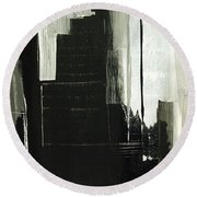 New York City Reflection Round Beach Towel