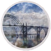 Newport Fantasy Round Beach Towel by Mick Anderson