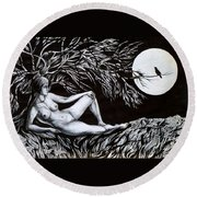 Nightingale Song. Part One Round Beach Towel