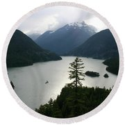 North Cascades Round Beach Towel