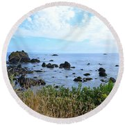 Northern California Coast2 Round Beach Towel by Zawhaus Photography