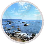 Northern California Coast3 Round Beach Towel by Zawhaus Photography