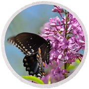 Nothing Says Spring Like Butterflies And Lilacs Round Beach Towel