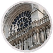 Round Beach Towel featuring the photograph Notre Dame Details by Jennifer Ancker