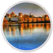 Novodevichy Convent Round Beach Towel
