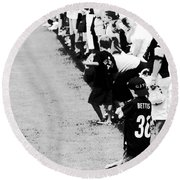 Number 1 Bettis Fan - Black And White Round Beach Towel