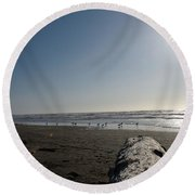 Ocean At Peace Round Beach Towel