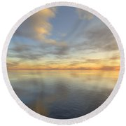 Ocean Round Beach Towel by Mark Greenberg