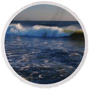 Ocean Of The God Series Round Beach Towel