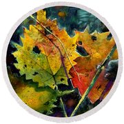 Round Beach Towel featuring the painting Oct 2nd by Andrew King